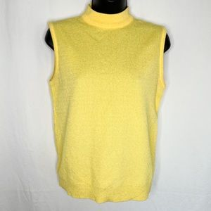 Vintage High Neck Tank Top / No size Tag / Made in Canada